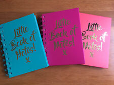 Little Book of Notes! Notebook Harback A6 Bright Note Book Jotter Spiral Lined
