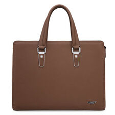 Men's Genuine Leather Briefcase Laptop Work Attache Case Shoulder Messenger Bag