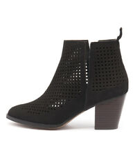 New Siren Melanie Black Nubuck Women Shoes Casuals Boots Ankle Boots