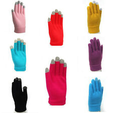 Unisex Magic Touch Screen Gloves Smartphone Texting Stretch One Size Winter Knit