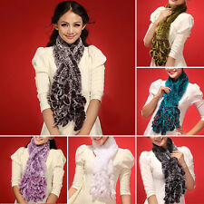 Real knitted Rex Rabbit Fur Hooded Scarf Wrap Best Coming Shawl Cape Stole