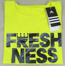 "ADIDAS Men's The Go To Tee ""Freshness"" Tee T-Shirt Bright Yellow Small NEW"