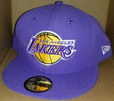 NWT NEW ERA Los Angeles LAKERS LA HWC 59FIFTY size fitted cap hat nba