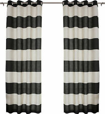 Best Home Fashion, Inc. Classic Striped Semi-Sheer Grommet Curtain Panels