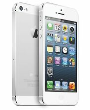 NEW SPRINT APPLE IPHONE 5 16GB WHITE & SILVER CAMERA IOS SMART PHONE S793