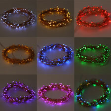 20-200LED Solar / Battery Powered Outdoor Xmas LED Fairy Lights String Party ZX