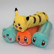 Pokemon Pencil Bag Makeup Cosmetic Brush Pouch  Pen Pencil Case Plush Bag 1PCS