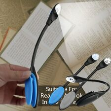 Flexible Double LED Book Reading Light Clip Arm Table Lamp Study Desk Light JK