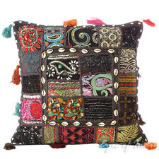 "16"" Black Decorative Throw Pillow Cover Sofa Cushion Couch Boho Indian Bohemian"