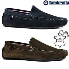 Mens Lambretta Leather Slip On Casual Mocassin Designer Loafer Driving Shoe Size