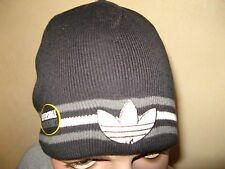NEW MENS BOYS YOUTHS REVERSIBLE ADIDAS KNITTED FASHION BEANIE HAT WOOLLEN BEANIE