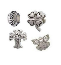 Religious Christian Cross or Angel Charm Bead, Celtic or Shamrock Euro Bead