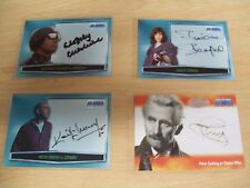 DOCTOR / DR WHO BIG SCREEN / ADDITIONS various AUTOGRAPH Cards Strictly Ink.