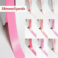 """5 Yards Double Sided 0.5"""" /13mm Discount Satin Ribbon. Pink s"""