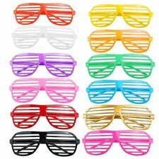 RANDOM COLOR Pairs Shutter Shades Glasses Sunglasses Party Photo Props Plastic