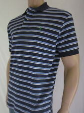 Ralph Lauren Classic Fit Navy Blue  Blue Stripe Short Sleeve Polo Shirt/Pony-NWT