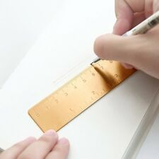 Mini 120MM Brass Portable Staight Measuring Ruler Double Scale Tool ZXHAPPY