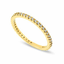 9ct Gold Ring Eternity Band Solid Yellow 9K Engagement 375 hallmarked All Size