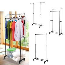 Heavy Duty Clothes display Garment Rack Collapsible Salesman Rolling Hanger X8I6