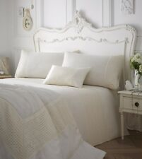 LUXURY EMBROIDERY BEADED DUVET QUILT COVER BEDDING BED LINEN SET NEVE CREAM NEW