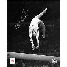 Nadia Comaneci Hand Signed Photographs Montreal Olympics Official Autograph