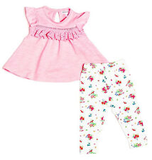 Baby Toddler Girls Pink Top & Floral Leggings Outfit (0-24 Months)