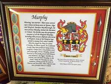 Briggs to Buchanan Family Coat of Arms FRAMED -  Over 1,000,000 Names available