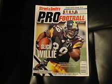 """WILLIE PARKER """"STEELERS"""" ON COVER OF 2007 STREET & SMITHS PRO FOOTBALL YEARBOOK"""