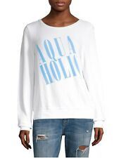 NEW WILDFOX COUTURE AQUAHOLIC JUMPER SWEATER SHIRT TOP WHITE