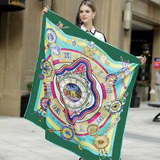 """Women's Fashion Printed Twill Silk Square Scarf Of Scarf Horses 51""""*51"""""""