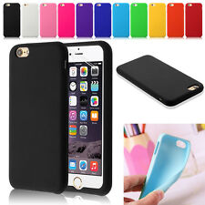 Fashion Silicone Rubber Gel Case Cover Skin For iPhone 6 Free Screen Protector