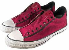 Converse John Varvatos Vintage Canvas Chuck Taylor Slip on Sneaker RED 153900C