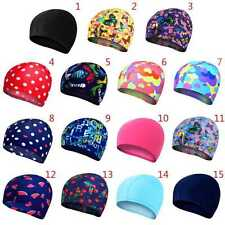 Colorful Men Women Elastic Durable Swim Caps Bathing Hat Long Hair Cap Swimwear