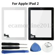 For Apple iPad 2 With Home Key Touch Screen Digitizer Glass Lens Panel + Tools