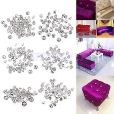 50pcs Flower Crystal Buttons For Sewing Sofa Upholstery Button DIY Crafts Decor