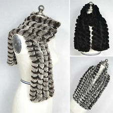 Warm Women Winter Real Rabbit Fur Scarf Scarves Stole Shawl Cape Wrap Collar