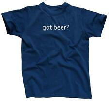GOT BEER? Funny College Party Cool Retro Tee Drinking - T-Shirt - NEW - Blue