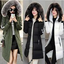 Women's Cold Weather No.5 100% Real Fur Collar Down Jacket Christmas Coat