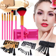 Professional Makeup Foundation Powder Brushes Kit Cosmetic Set With Bag Case