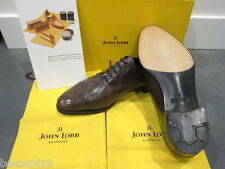 *NEW* JOHN LOBB PHILIP 2 PRESTIGE BEVELED OXFORD PEWTER MUSEUM CALF 9.5EE