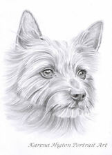 A5-6x8 PENCIL SKETCH PORTRAIT Child Family Pet Custom Drawing from Photo- Karena