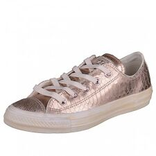 Converse All Star-Ox Women rosé gold Chuck Chucks Leather Shoes Sneakers 542439C