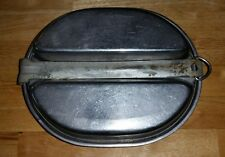 Vintage WWII US Army Steel Mess Kit LEYSE 1944 Dated Military Camping Backpack