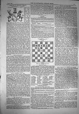 Antique Print 1869 Twenty One Pages Chess Moves Illustrated London 651P154