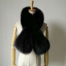 Real Whole Ranch Fox Fur Hit Color Scarf Shawl Collar Wrap Hot Top Stole Scarves
