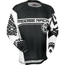 Moose Racing Qualifier 2017 Mens MX/Offroad Jersey Stealth Black/White
