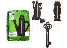 Garden Thermometer Ornament Statue Cast Iron Outdoor Wall Temperature Gauge