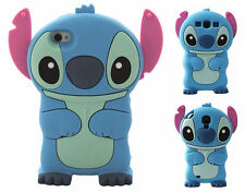3D Movable Ear Blue Stitch Soft Silicone Back Case Cover Shell For Mobile Phones