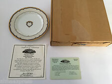 1986 Woodmere China White House Dessert Collection Franklin Pierce Plate, Recipe