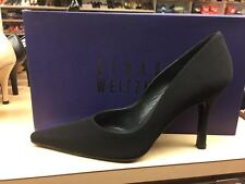 Stuart Weitzman Womens Lady Black Crepe Fabric Pumps